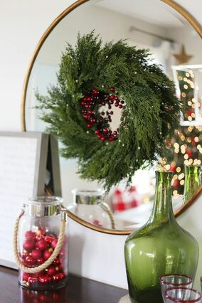 How To Decorate A Round Mirror For