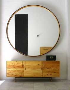 Extra large round mirrors gold frame