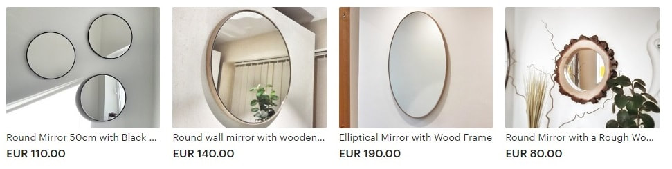 Round mirrors for sale